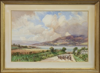 Lot 425-LOCH LONG, A WATERCOLOUR BY TOM CAMPBELL