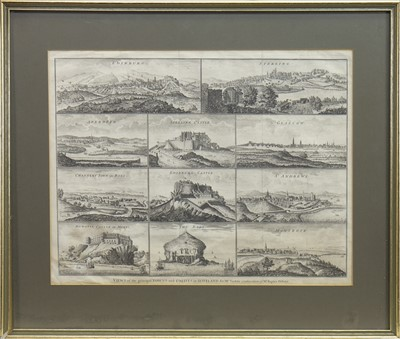 Lot 1652-VIEWS OF THE PRINCIPAL TOWNS AND CASTLES IN SCOTLAND, 11 ENGRAVINGS