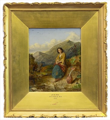Lot 3-AT THE WELLS, AN OIL BY PAUL FALCONER POOLE