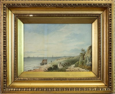 Lot 11-FIRTH OF TAY, A WATERCOLOUR BY W LANGLEY