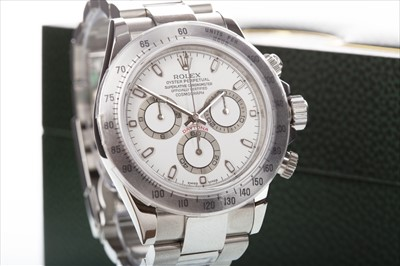 Lot 751 - A GENTLEMAN'S ROLEX DAYTONA WRIST WATCH