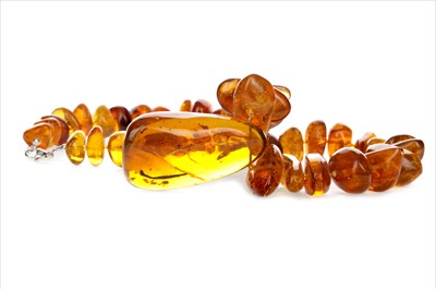 Lot 350-A VERY RARE AMBER NECKLACE