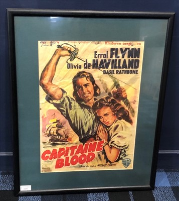 Lot 1655-A CAPITAINE BLOOD ERROL FLYNN FILM POSTER (1935)