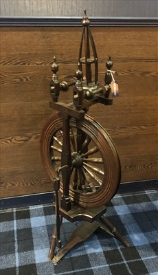 Lot 1656-A 19TH CENTURY SPINNING WHEEL