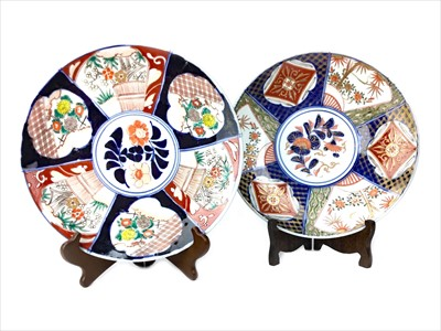 Lot 1030-A LOT OF TWO JAPANESE IMARI CHARGERS