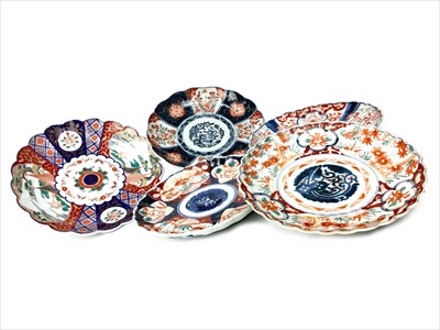 Lot 1047-A LOT OF FIVE 20TH CENTURY JAPANESE IMARI PLAQUES