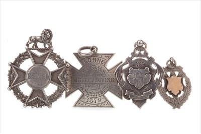 Lot 1705-A LOT OF FOUR VICTORIAN SPORTING MEDALS