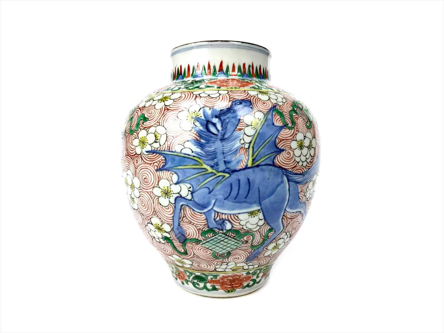 Lot 1027-AN EARLY 20TH CENTURY CHINESE WUCAI VASE