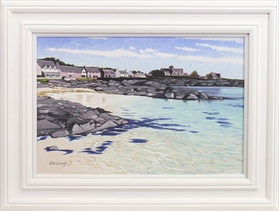 Lot 35-IONA AND THE ABBEY, AN OIL BY FRANK COLCLOUGH