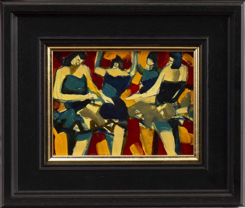Lot 17-GOLDEN DANCERS, A MIXED MEDIA BY JAMIE O'DEA