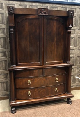 Lot 1674-A MAHOGANY ARMOIRE BY RALPH LAUREN