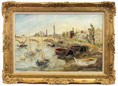 Lot 509-OIL RIVER SCENE BY GEORGE HANN