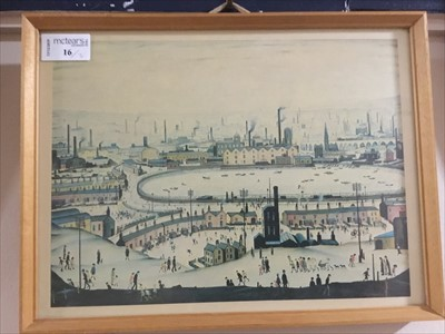 Lot 16-A LOT OF THREE PRINTS AFTER LOWRY