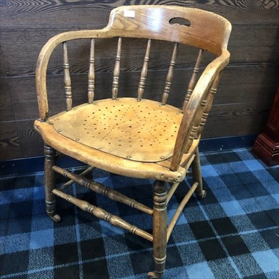 Lot 14-A SMOKER'S BOW CHAIR