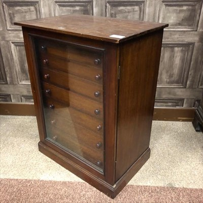 Lot 1673-A VICTORIAN MAHOGANY COLLECTOR'S CABINET OF DRAWER