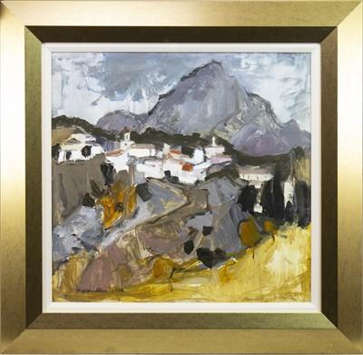 Lot 547-CLOUDY AFTERNOON GRAZALEMA, AN OIL BY SHEILA MACMILLAN