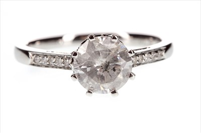 Lot 259-A DIAMOND SOLITAIRE RING