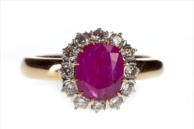 Lot 264-A RUBY AND DIAMOND RING