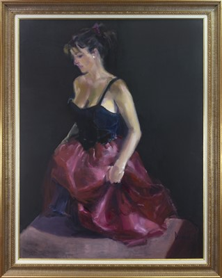 Lot 539-BEFORE THE DANCE, AN OIL BY MARION DRUMMOND