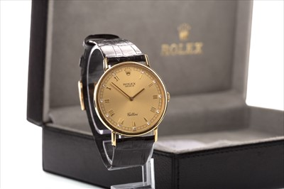 Lot 752 - A GENTLEMAN'S ROLEX CELLINI WATCH