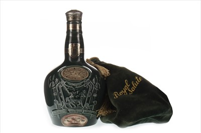 Lot 401-CHIVAS REGAL ROYAL SALUTE 21 YEARS OLD - EMERALD FLAGON