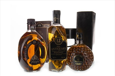 Lot 402-DIMPLE 15 YEARS OLD, OLD ST ANDREWS AND ANTIQUARY 12 YEARS OLD