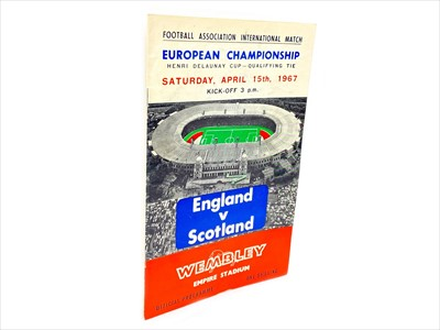 Lot 1726-AN ENGLAND V SCOTLAND MATCHDAY PROGRAMME FROM 'THAT MATCH' IN 1967