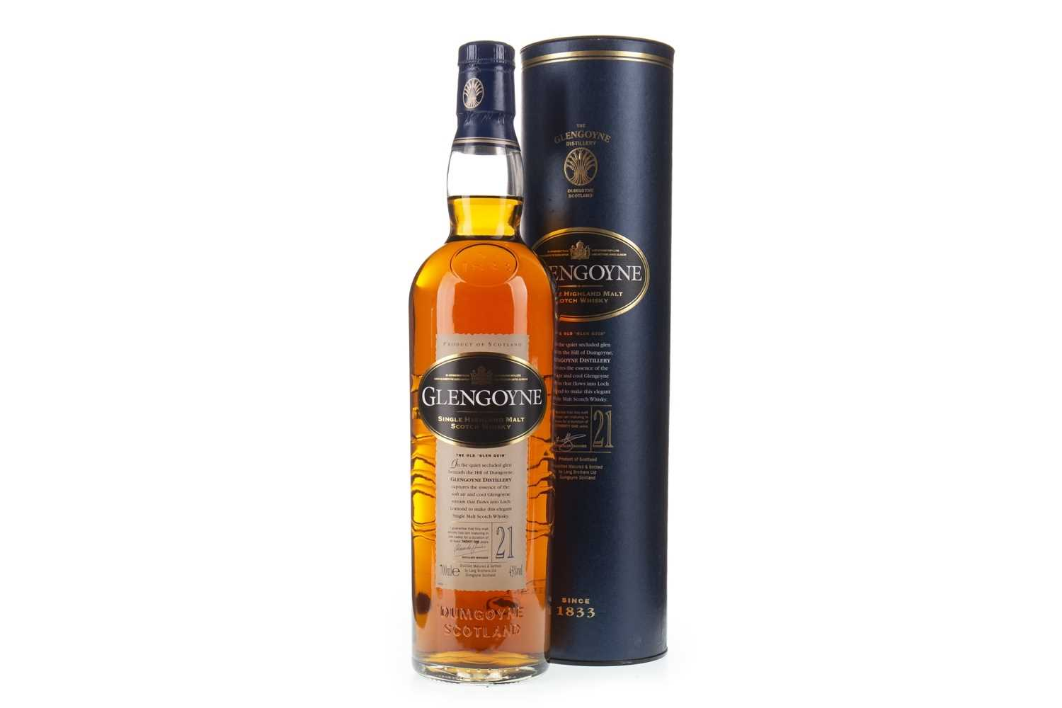 Lot 18-GLENGOYNE 21 YEARS OLD