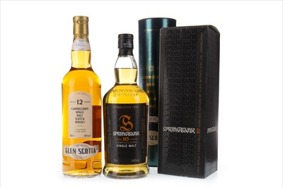 Lot 304-GLEN SCOTIA AGED 12 YEARS AND SPRINGBANK AGED 10 YEARS