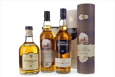 Lot 305-ROYAL LOCHNAGAR 12 YEARS OLD, GLEN GARIOCH 15 YEARS OLD AND DALWHINNIE 15 YEARS OLD