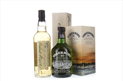 Lot 307-ISLE OF ARRAN ROBERT BURNS AND TOBERMORY AGED 10 YEARS