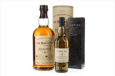 Lot 315-BALVENIE DOUBLEWOOD 12 YEARS OLD 70CL AND CAOL ILA 12 YEARS OLD