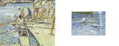 Lot 924-HENLEY REGATTA, TWO PICTURES BY TOM COATES