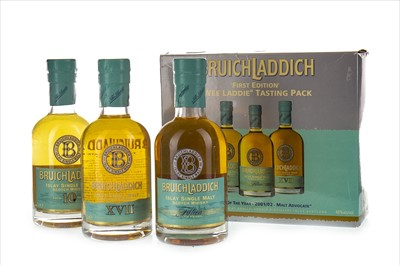 Lot 321-BRUICHLADDICH FIRST EDITION WEE LADDIE TASTING PACK (3X20CL)