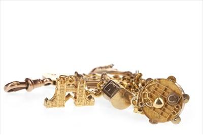 Lot 263-A GOLD CHARM BRACELET