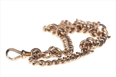 Lot 268-A GOLD CURB LINK BRACELET