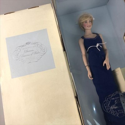 Lot 4-A LOT OF THREE FRANKLIN MINT PRINCESS DIANA DOLLS