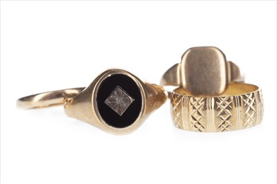 Lot 282-FOUR GOLD RINGS