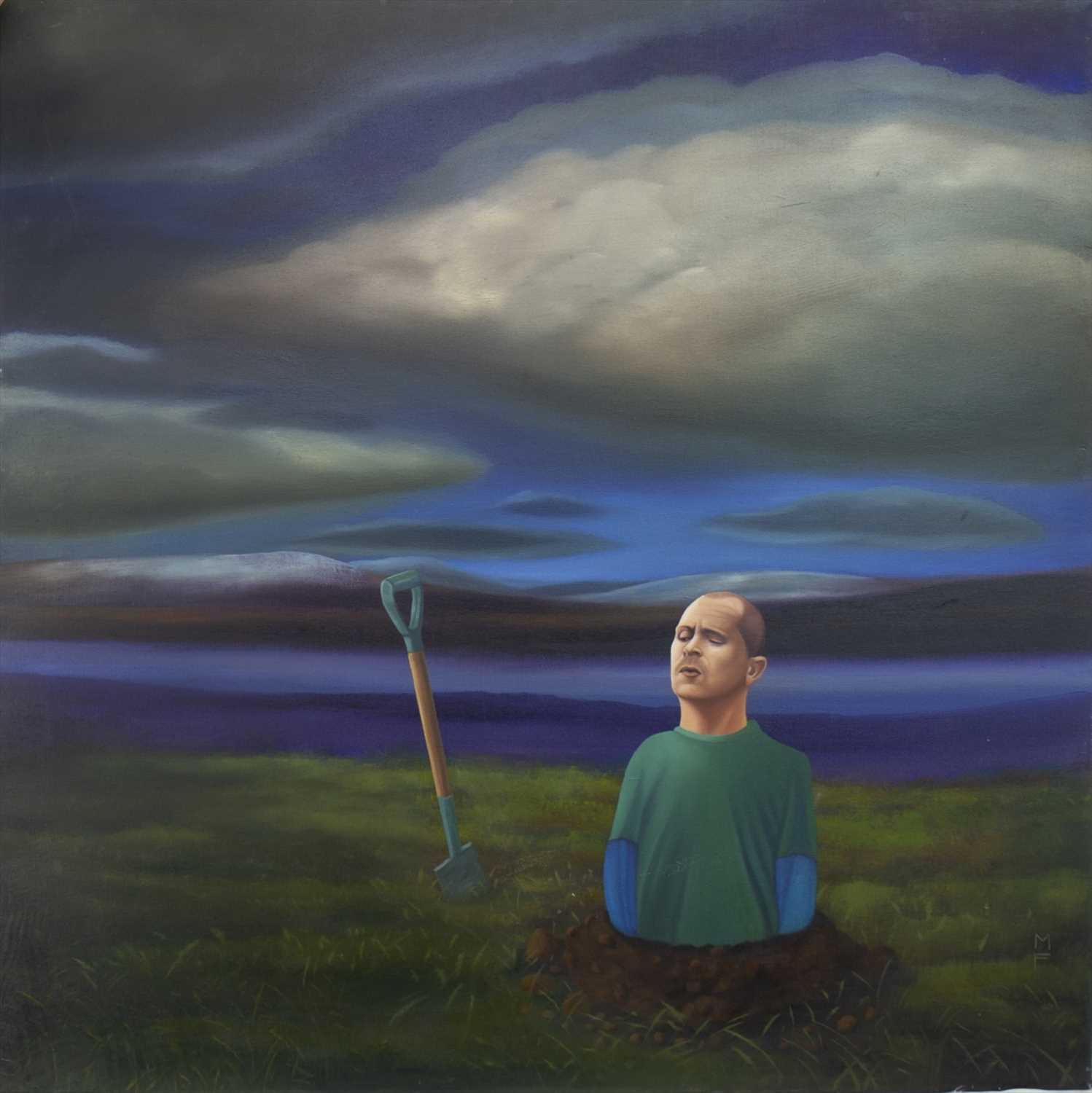 Lot 516-IN TOO DEEP, AN OIL BY MICHAEL FORBES