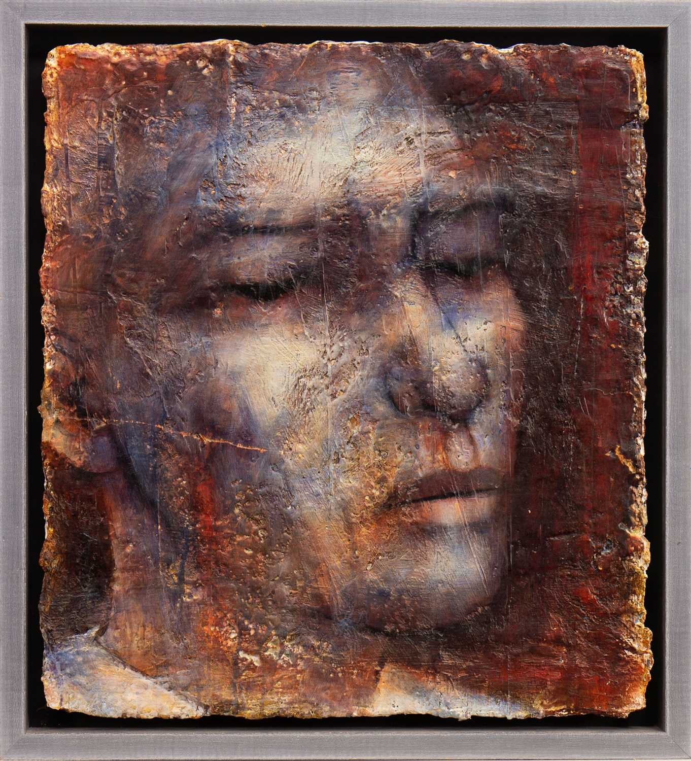 Lot 518-HEAD, AN OIL BY PETER WHITE
