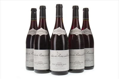 Lot 2023-FIVE BOTTLES OF COTES-DU-ROUSSILLON 2007