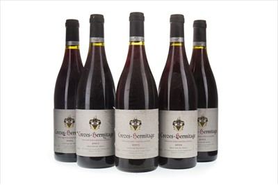 Lot 2024-FIVE BOTTLES OF CROZES-HERMITAGE 2004