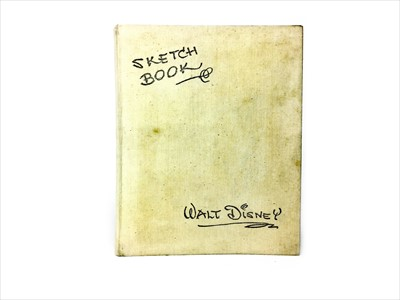 Lot 1728-AN AUTOGRAPHED COPY OF THE WALT DISNEY 'SKETCH BOOK'