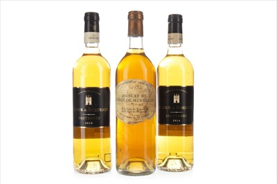 Lot 2025-ONE BOTTLE OF MUSCAT AND TWO SAUTERNES