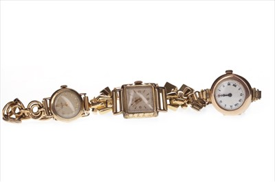 Lot 759-THREE LADY'S  WATCHES