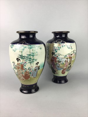 Lot 2-A PAIR OF JAPANESE VASES