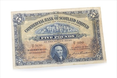 Lot 1-A COMMERCIAL BANK OF SCOTLAND £5