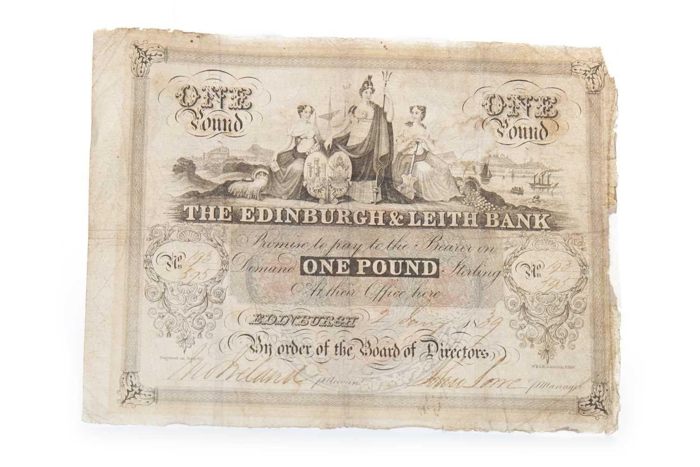 Lot 3-A THE EDINBURGH & LEITH BANK £1