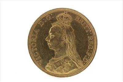 Lot 7-A GOLD £2 COIN, 1887