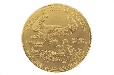 Lot 8-A GOLD USA 25 DOLLAR 1/2 OZ GOLD COIN